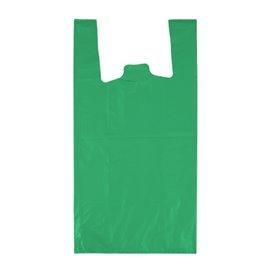 "Plastic T-Shirt Bag 70% Recycled ""Colors"" Green 42x53cm 50µm (50 Units)"