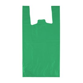 "Plastic T-Shirt Bag 70% Recycled ""Colors"" Green 42x53cm 50µm (1.000 Units)"