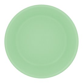 Reusable Plate Durable PP Mineral Green Ø18cm (54 Units)