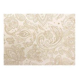 "Non-Woven Tablecloth Roll 1,2x50m ""Mandala"" Cream 50g/m² P40cm (1 Unit)"