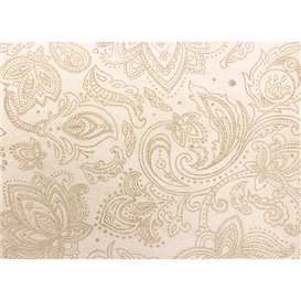 "Non-Woven Tablecloth Roll 0,4x48m ""Mandala"" Cream 50g/m² P40cm (6 Units)"