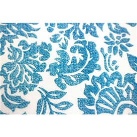 """Airlaid Tablecloth Roll 0,4x48m """"Versalles"""" Turquoise 50g/m² P30cm (6 Units)"""