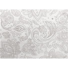"Non-Woven Tablecloth Roll 1,2x50m ""Mandala"" Grey 50g/m² P40cm (1 Unit)"