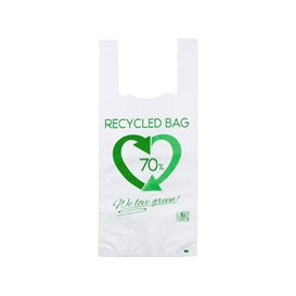 Plastic T-Shirt Bag 70% Recycled 35x50cm 50µm (1.000 Units)