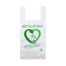 Plastic T-Shirt Bag 70% Recycled 42x53cm 50µm (800 Units)