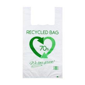 Plastic T-Shirt Bag 70% Recycled 50x60cm 50µm (100 Units)