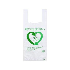 Plastic T-Shirt Bag 70% Recycled 35x50cm 50µm (100 Units)