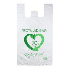 Plastic T-Shirt Bag 70% Recycled 80x90cm 50µm (300 Units)