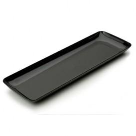 Plastic Tasting Tray PS Black 6x19 cm (200 Units)
