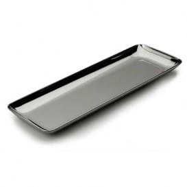 Plastic Tasting Tray PS Silver 6x19 cm (200 Units)