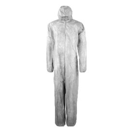 "Disposable Plastic Coverall ""TST"" PP Hood Zipper 35g Size M (50 Units)"