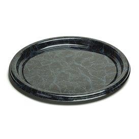 Plastic Tray Round Shape Marble 30 cm (5 Units)