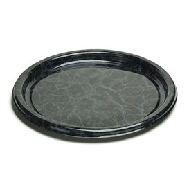 Plastic Tray Round Shape Marble 30 cm (50 Uds)