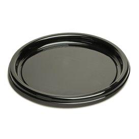 Plastic Plate Round Shape Black 23Cm (250 Units)