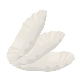 Paper Food Boat Tray Oval shape 16,5x10x3,5cm (2000 Units)