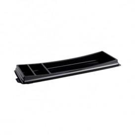 Plastic Sushi Container PET Black 26,3x9,1cm (10 Units)