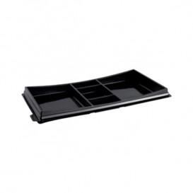 Plastic Sushi Container PET Black 27,3x15,1cm (10 Units)