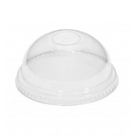 Plastic Dome Lid PET Crystal Ø8,3cm (100 Units)