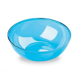 Plastic Bowl PS Crystal Hard Turquoise 400ml Ø14cm (60 Units)