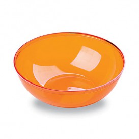 Plastic Bowl PS Crystal Hard Orange 400ml Ø14cm (60 Units)