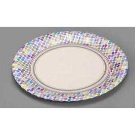 "Paper Plate ""Rayas y Topos"" Design 23cm (504 Units)"