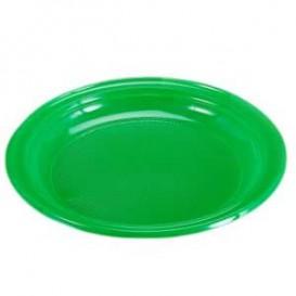 Plastic Plate Flat Green 20,5 cm (960 Units)