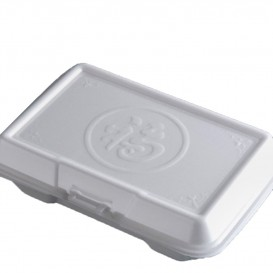 Foam Take-Out Container Asian 2,40x1,40x0,70cm (100 Units)