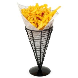 Serving Basket Containers Steel Ø12,8x22,5cm (6 Units)