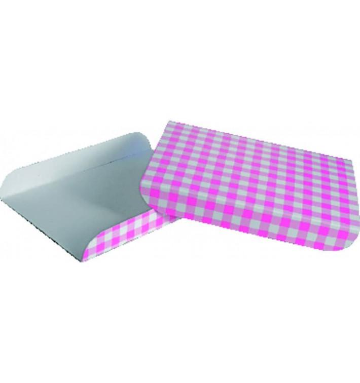 Paper Tray Waffles Pink 13,5x10cm (1500 Units)