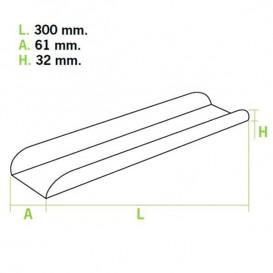 Paper Baguette Tray 30x6,1x3,2 (1000 Units)