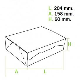 Paper Bakery Box White 20,4x15,8x6cm 1Kg (200 Units)