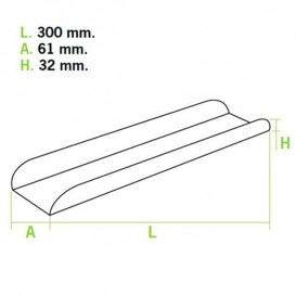 Paper Tray Waffle Opened Pink 30x6,1x3,2cm (1000 Units)