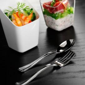 Plastic Teaspoon Metallized 10cm (1.000 Units)