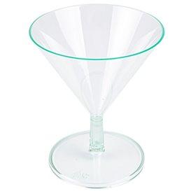 Plastic Glass Water Green 65ml (12 Units)