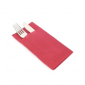 "Pocket Fold Airlaid Napkins ""Kanguro"" Burgundy 40x40cm (800 Units)"