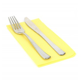 Paper Napkin Double Point Yellow 1/8 40x40cm (50 Units)
