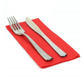 Paper Napkin Double Point Red 1/8 40x40cm (50 Units)