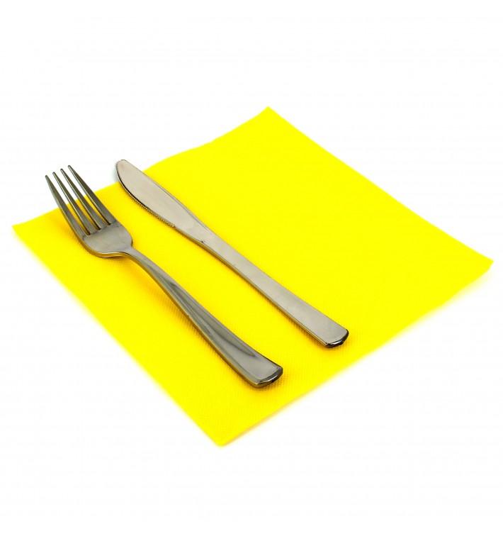 Paper Napkin Double Point Yellow 40x40cm (1.200 Units)