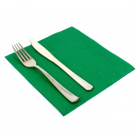 Paper Napkin Double Point Green 40x40cm (50 Units)