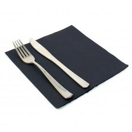 Paper Napkin Double Point Black 40x40cm (50 Units)