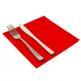 Paper Napkin Double Point Red 40x40cm (50 Units)