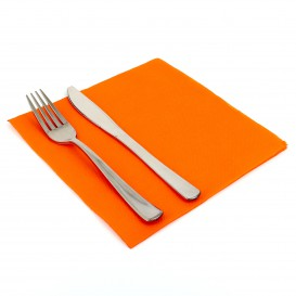 Paper Napkin Double Point Orange 40x40cm (50 Units)