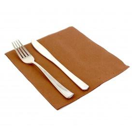 Paper Napkin Double Point Brown 40x40cm (50 Units)
