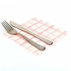 Paper Napkin Red Square 1 Layer 33x33 (80 Units)