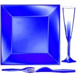 Design Disposable TableWare Blue Pearl