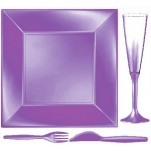 Design Disposable TableWare Violet Pearl