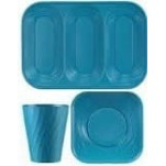 Disposable TableWare X-Table Turquoise