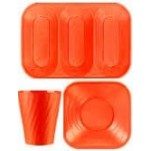 Disposable TableWare X-Table Orange