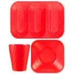 Disposable TableWare X-Table Red