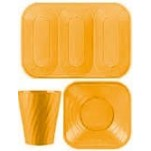 Disposable TableWare X-Table Golden